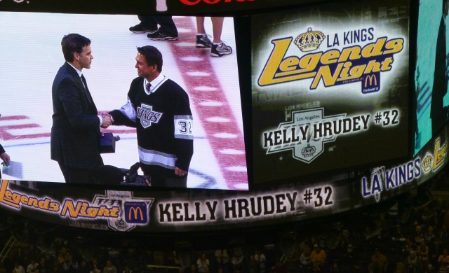 Kelly with another Kings legend Luc Robitaille