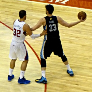 Mark Gasol with Blake