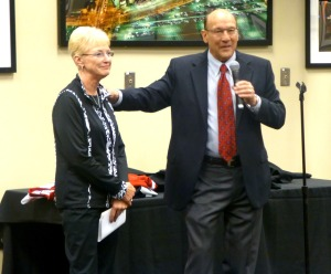 Judy and Bob Miller enjoy their suprise party