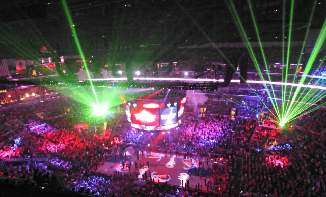 Clippers-Grizzlies pregame introductions