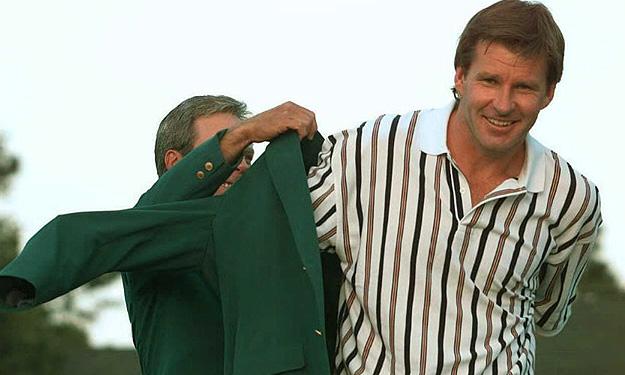 Faldo loves that green jacket