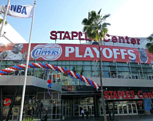 Setting for game 2 at Staples Center