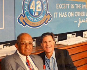 Hanging with Jackie's Brooklyn teammate Don Newcombe