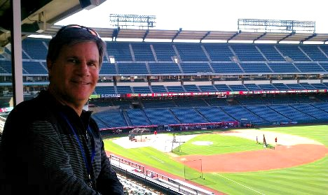 In the new pressbox which is closer to the foul pole than home plate!