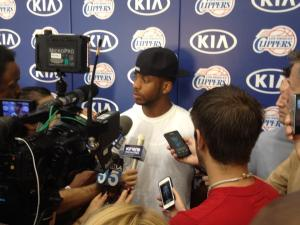 CP3 chats with us about his future (photo courtesy of Ralph Lawler's facebook post)