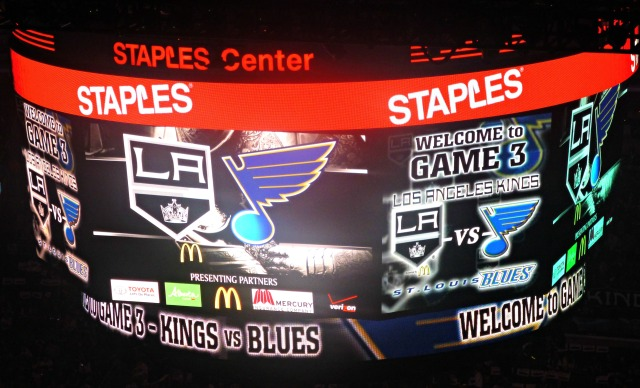 Kings Blues game 3 scoreboard