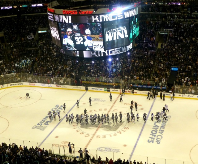 Kings eliminate the Blues again, and the perfect picture for the home fans