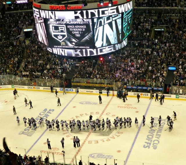 Kings celebrate game 7 win over San Jose