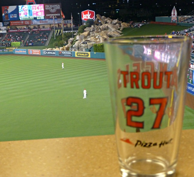 Trout's glass was full with a cycle in a 12-0 win