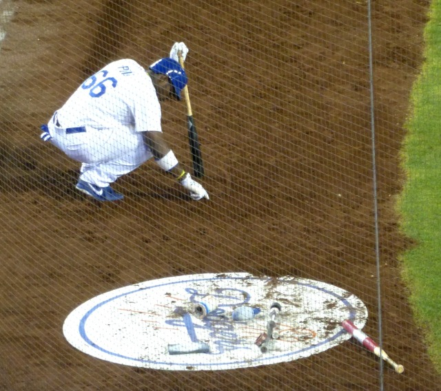 Puig could only scribble in the dirt another tough loss