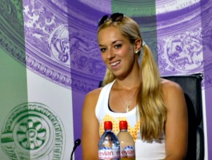 Lisicki talking with us after happier times when winning the semi's.