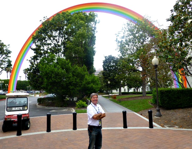 Somewhere under the rainbow at Sony Studios