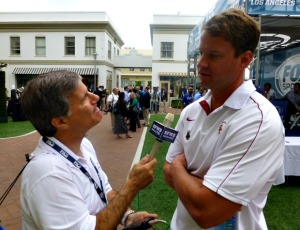 Coach Kiffin wasn't in the mood to give me much real insight