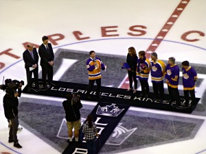 Pregame ceremony at center ice