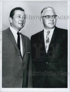Harry Henson (right) with Gil Stratton. (The only picture of Henson I could find online was on Ebay)