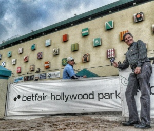 My last look at Hollypark's front wall of owner's colors