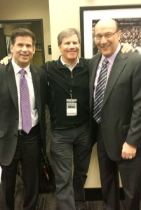 with Jim and Bob before tonight's game