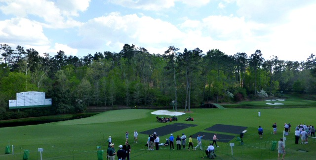 My first look at Amen Corner before the real action begins
